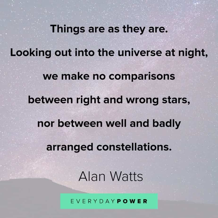 Alan Watts Quotes on the stars