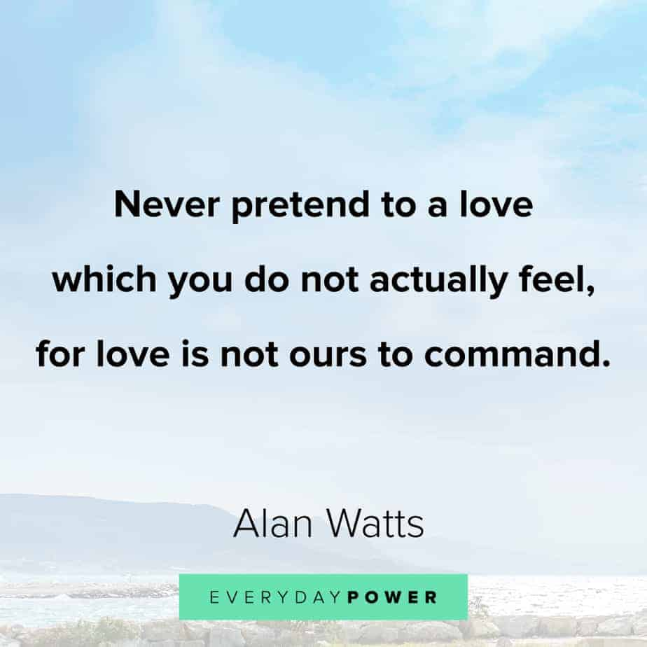 Alan Watts Quotes on self care