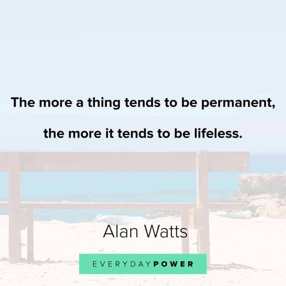 Alan Watts Quotes on the world