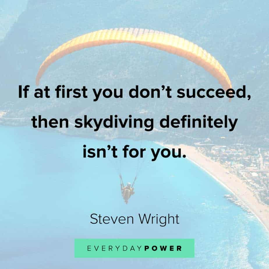 Funny inspirational quotes about skydiving
