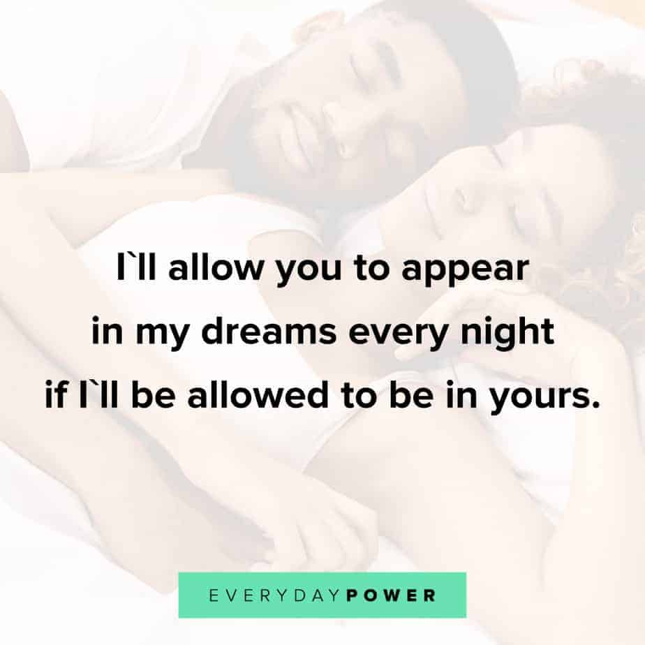 Love quotes for him about dreams
