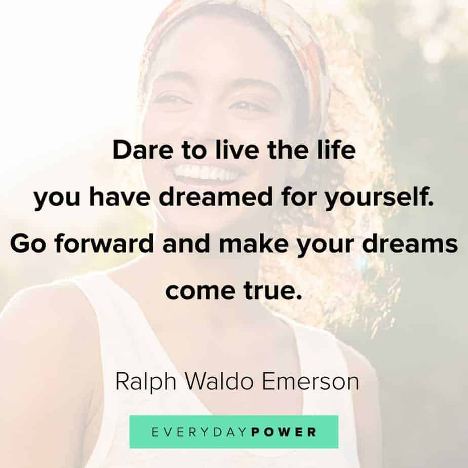 Ralph Waldo Emerson quotes on going forward
