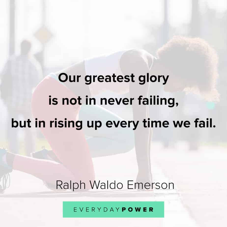 Ralph Waldo Emerson quotes on rising up after failure