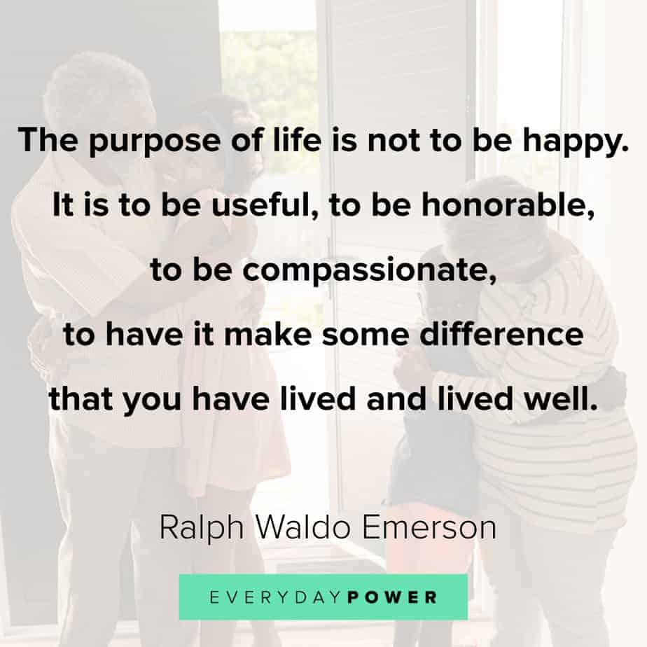 Ralph Waldo Emerson quotes on purpose of life