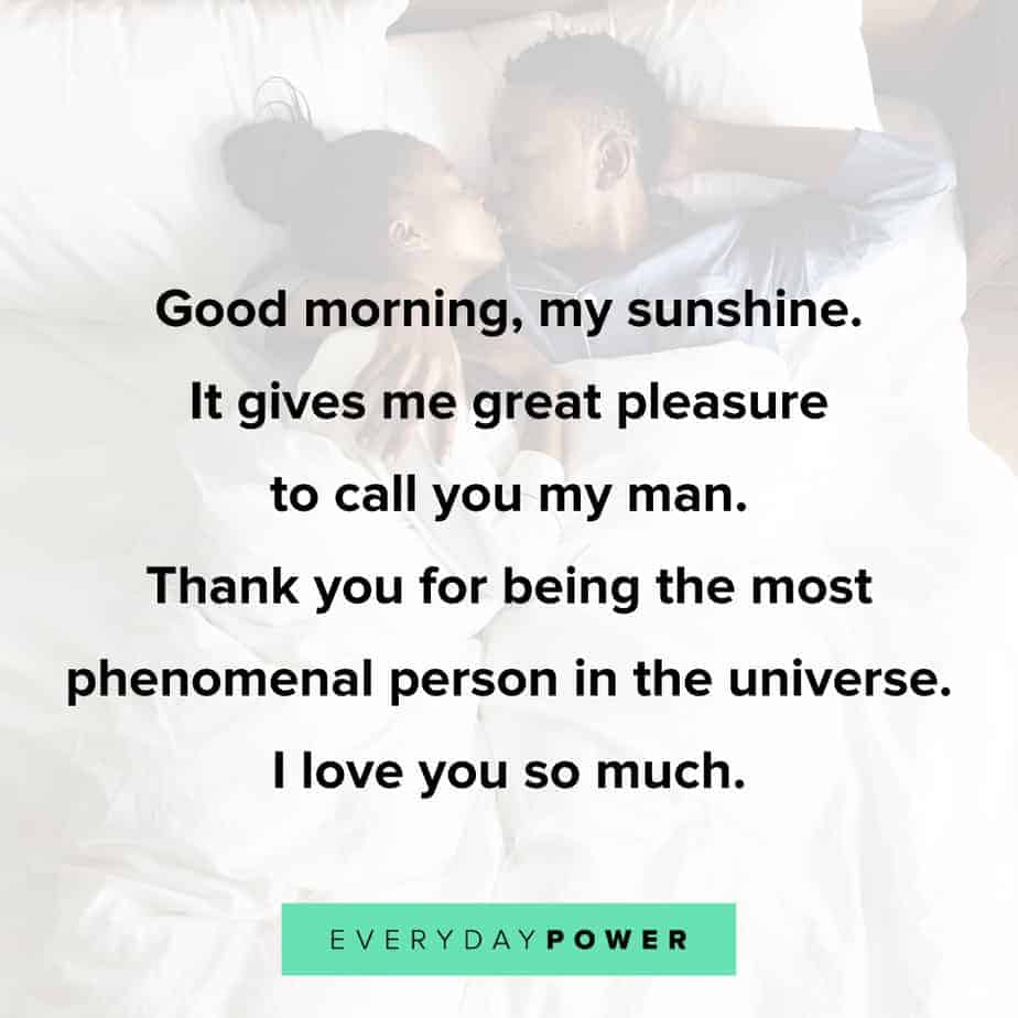 60 Good Morning Quotes for Him Celebrating Love (2019)