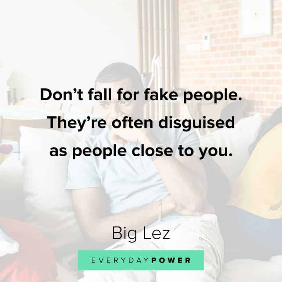 best Rap Quotes about fake people