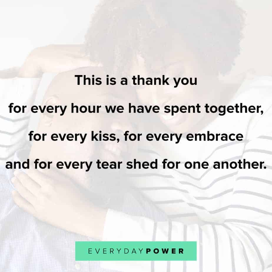 Love quotes for him thanking your man