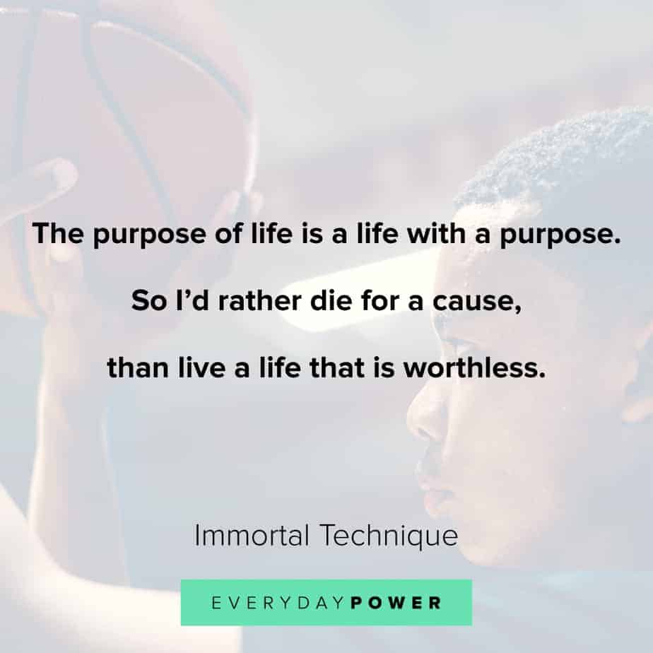best Rap Quotes about purpose